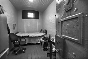 6.5.10 Dublin. Mountjoy Prison Cell. ©Photo by Derek Speirs