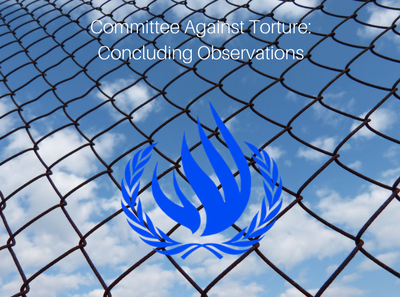 Committee Against Torture CAT Concluding Observations